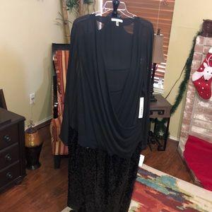 DKNY Black Sequined Dress